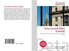 Bookcover of Privy Council Office (Canada)