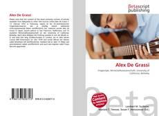 Alex De Grassi kitap kapağı