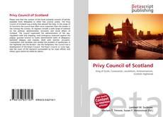 Bookcover of Privy Council of Scotland
