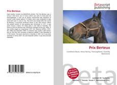 Prix Berteux kitap kapağı