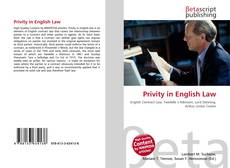 Bookcover of Privity in English Law