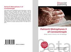 Patriarch Metrophanes II of Constantinople kitap kapağı