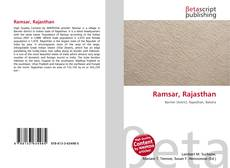 Bookcover of Ramsar, Rajasthan