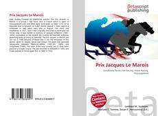 Prix Jacques Le Marois kitap kapağı