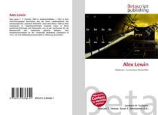 Portada del libro de Alex Lewin