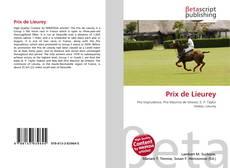Bookcover of Prix de Lieurey