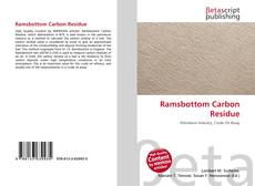 Bookcover of Ramsbottom Carbon Residue