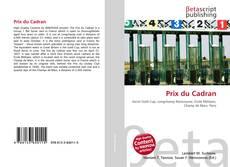 Prix du Cadran kitap kapağı