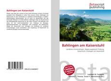 Bahlingen am Kaiserstuhl kitap kapağı