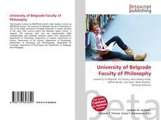 Copertina di University of Belgrade Faculty of Philosophy