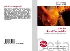 Copertina di Alex de Grassi(Fingerstyle)