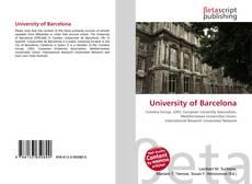 Bookcover of University of Barcelona