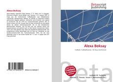 Alexa Boksay的封面