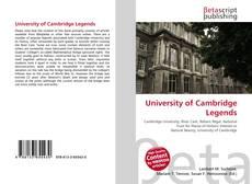 University of Cambridge Legends的封面