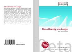Bookcover of Alexa Hennig von Lange