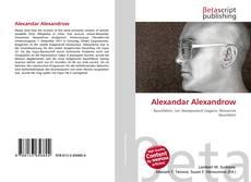 Bookcover of Alexandar Alexandrow