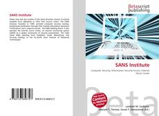 Bookcover of SANS Institute