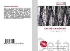 Buchcover von Alexandar Boschkow
