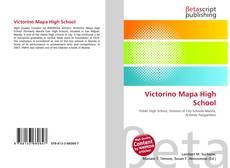 Bookcover of Victorino Mapa High School