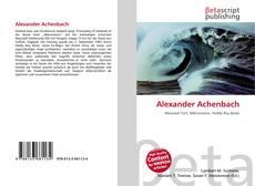 Capa do livro de Alexander Achenbach