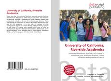 Couverture de University of California, Riverside Academics