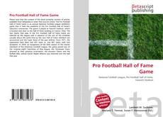 Обложка Pro Football Hall of Fame Game