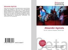 Alexander Agricola kitap kapağı