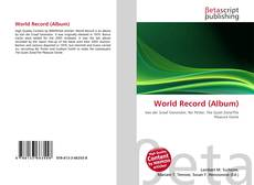 Bookcover of World Record (Album)