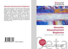 Couverture de Alexander Alexandrowitsch Bogdanow