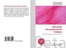 Couverture de Alexander Alexandrowitsch Fadejew