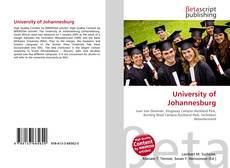 Bookcover of University of Johannesburg