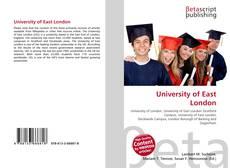 University of East  London的封面