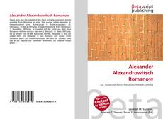 Couverture de Alexander Alexandrowitsch Romanow