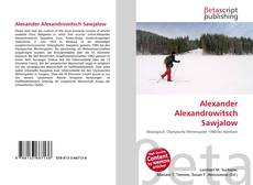 Bookcover of Alexander Alexandrowitsch Sawjalow
