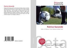 Bookcover of Patrice Garande