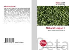 Bookcover of National League 1