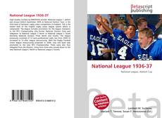 Bookcover of National League 1936-37