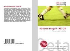 Bookcover of National League 1937-38