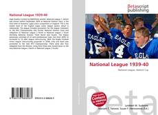 Bookcover of National League 1939-40