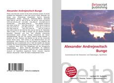 Capa do livro de Alexander Andrejewitsch Bunge