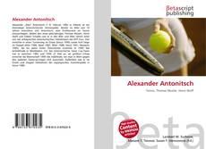 Couverture de Alexander Antonitsch