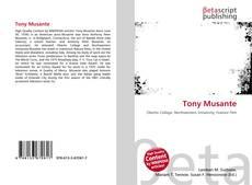 Buchcover von Tony Musante
