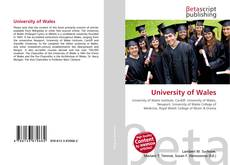 Bookcover of University of Wales