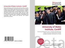 Bookcover of University of Wales Institute, Cardiff