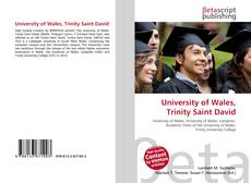 Bookcover of University of Wales, Trinity Saint David