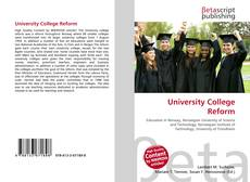 Bookcover of University College Reform