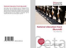 Portada del libro de National Liberation Front (Burundi)