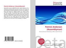 Portada del libro de Patrick Anderson (Assemblyman)