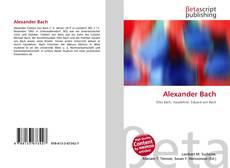 Portada del libro de Alexander Bach