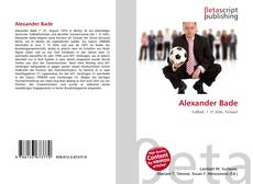 Bookcover of Alexander Bade
